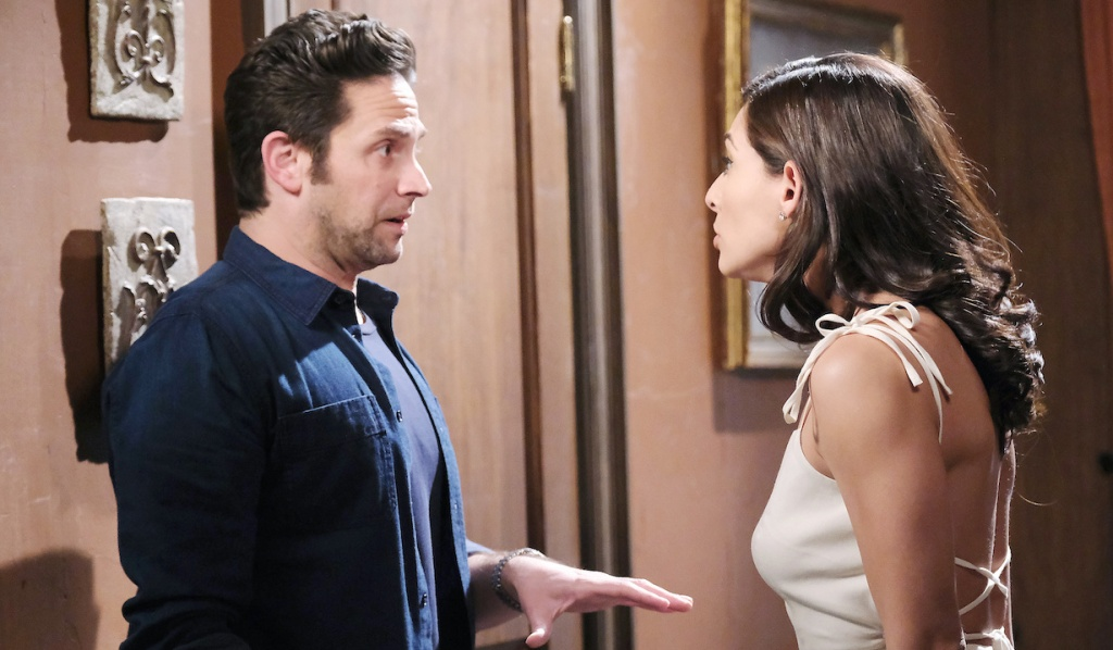Jake tries to explains to a furious Gabi on Days of Our Lives