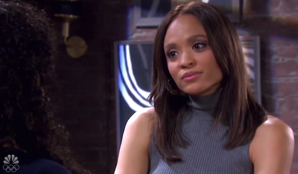 Lani listens to Paulina on Days of Our Lives