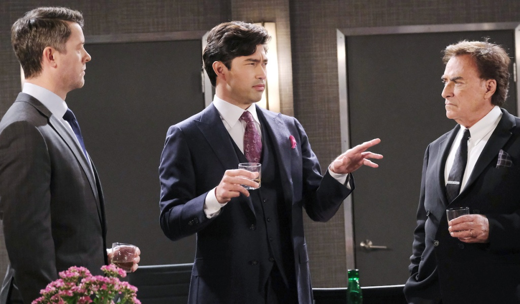 Li explains to EJ and Tony on Days of Our Lives