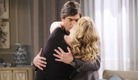Lucas holds Sami in passionate kiss on Days of Our Lives