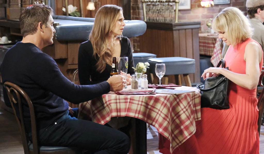 Rafe, Ava and Nicole dine at Brady's Pub on Days of Our Lives