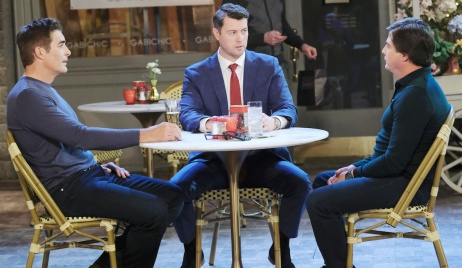 Rafe, EJ and Lucas in Horton Square on Days of Our Lives