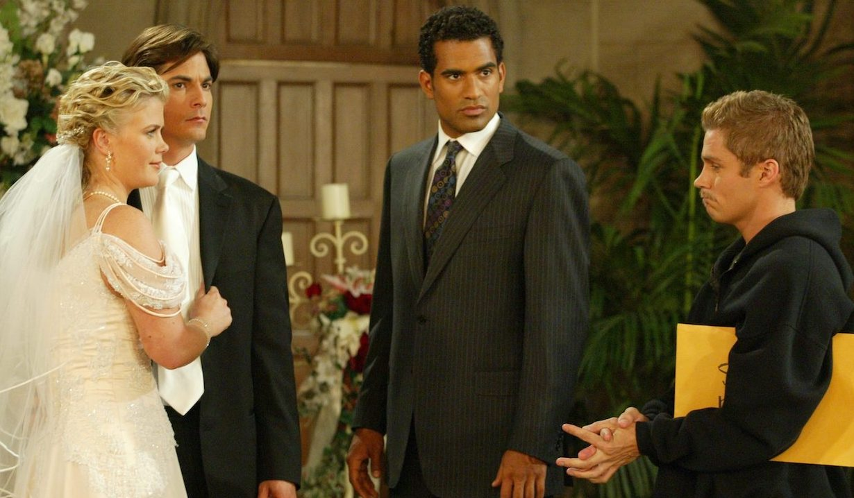 Brandon and Stan interrupt Sami and Lucas' wedding on Days of Our Lives