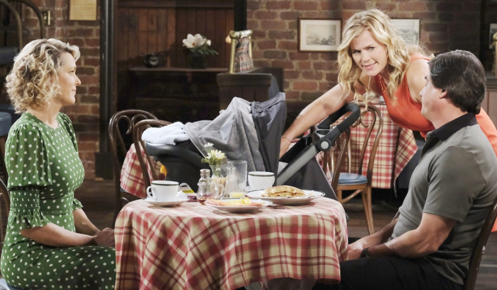 Sami joins Nicole, Lucas and Henry in Brady's Pub on Days of Our Lives