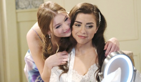 Allie helps Ciara get ready for the wedding on Days of Our Lives