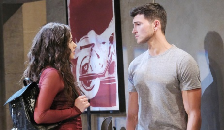 Ben blocks Ciara from the door on Days of Our Lives