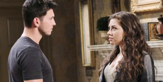 Ben faces Ciara in the Kiriakis mansion on Days of Our Lives