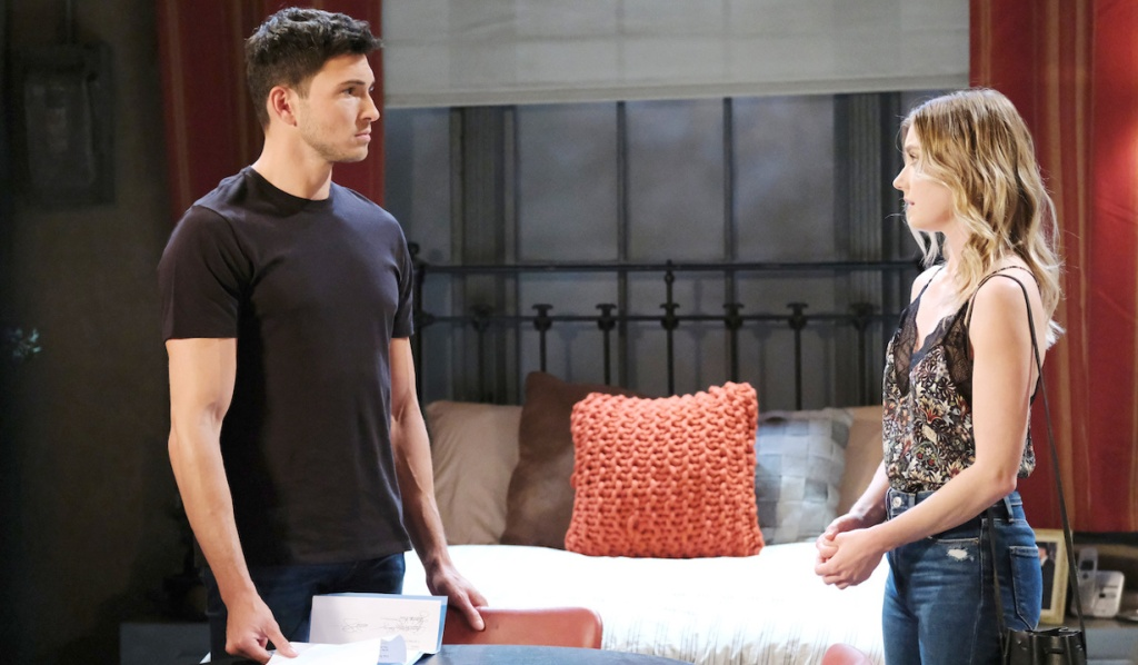 Claire finds Ben with his divorce papers on Days of Our Lives