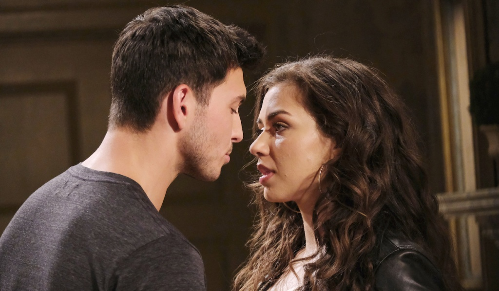 Ben and Ciara nose to nose on Days of Our Lives