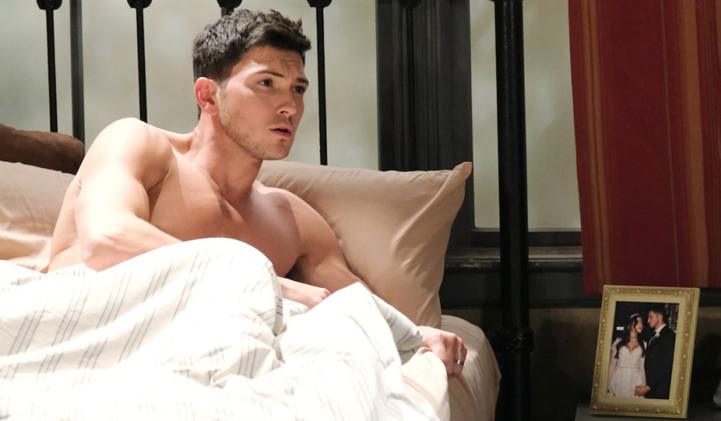Ben startles awake in bed on Days of Our Lives