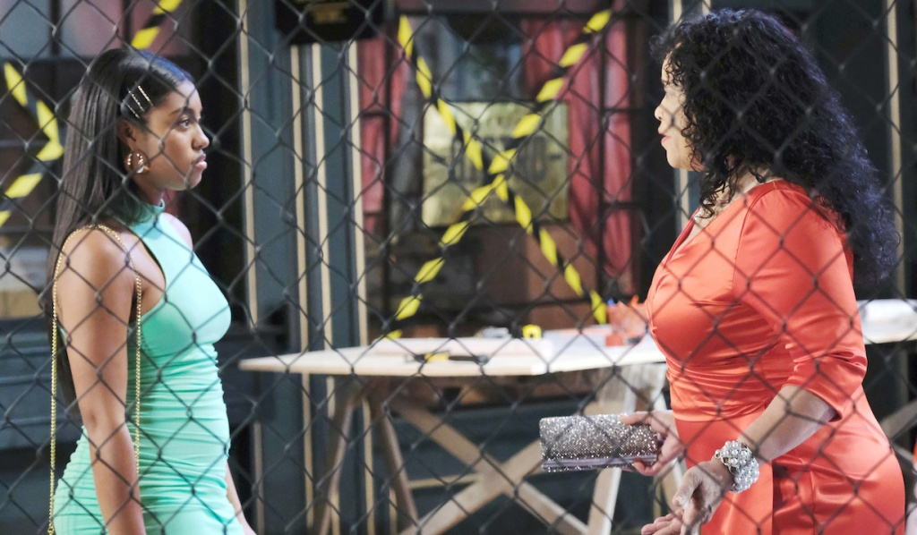 Chanel confronts Paulina in the Square on Days of Our Lives