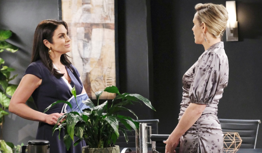Chloe and Nicole talk at Basic Black on Days of Our Lives