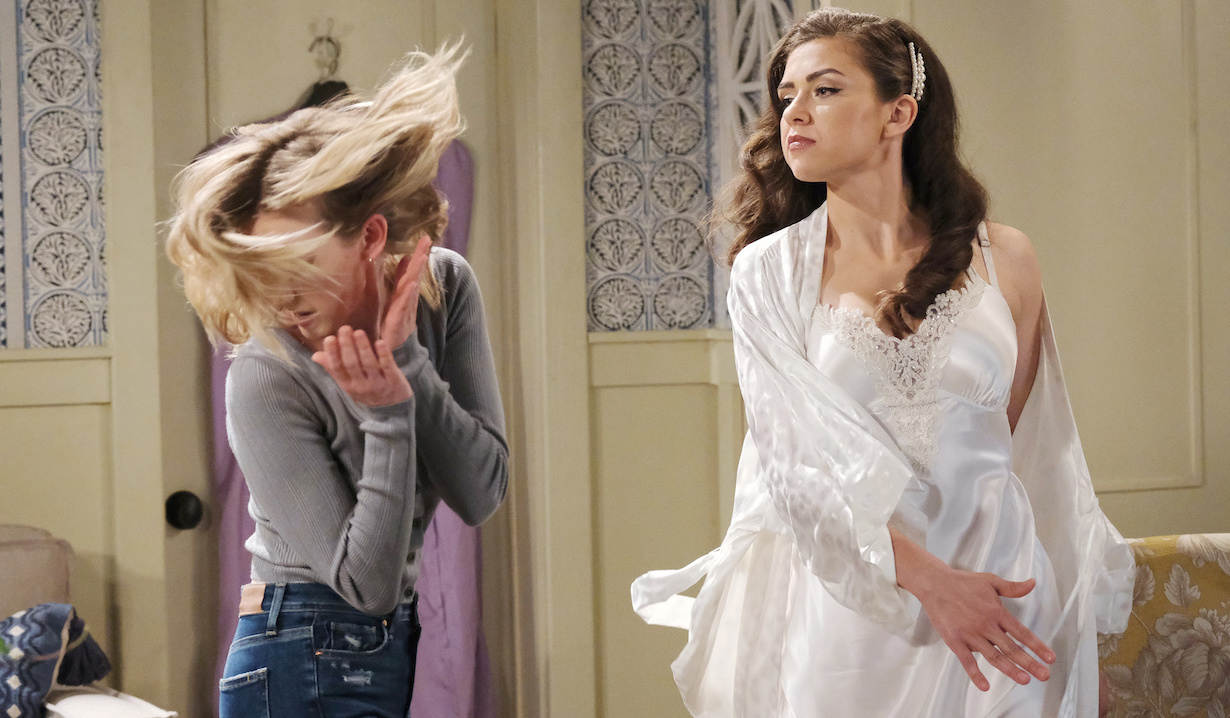 Ciara slaps Claire on Days of Our Lives
