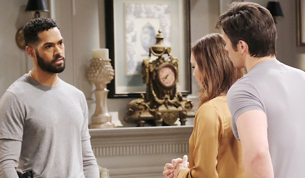 Eli questions Gwen and Xander on Days of Our Lives