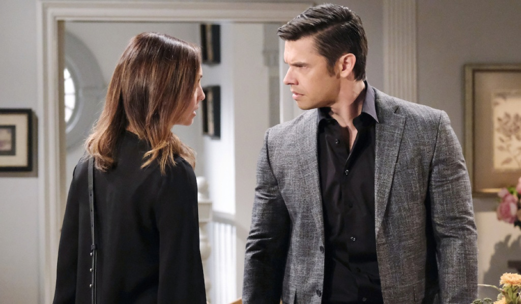 Xander and Gwen argue at Horton House on Days of Our Lives
