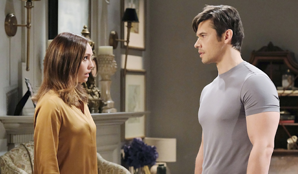 Gwen and Xander get their stories straight on Days of Our Lives