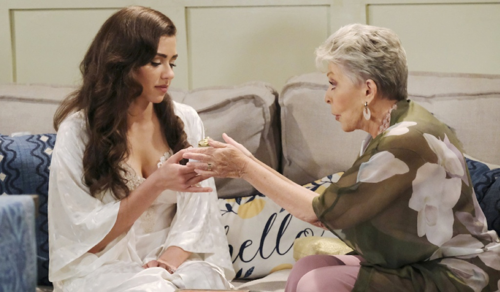 Julie gives Ciara a gift on her wedding day on Days of Our Lives