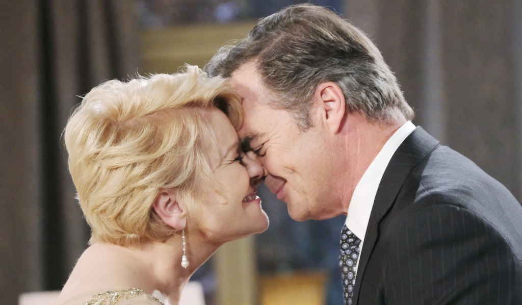 Justin and Adrienne happy on Days of Our Lives