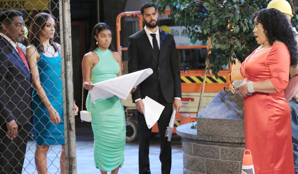 Paulina faces Eli, Chanel, Lani and Abe about Horton Square demolition on Days