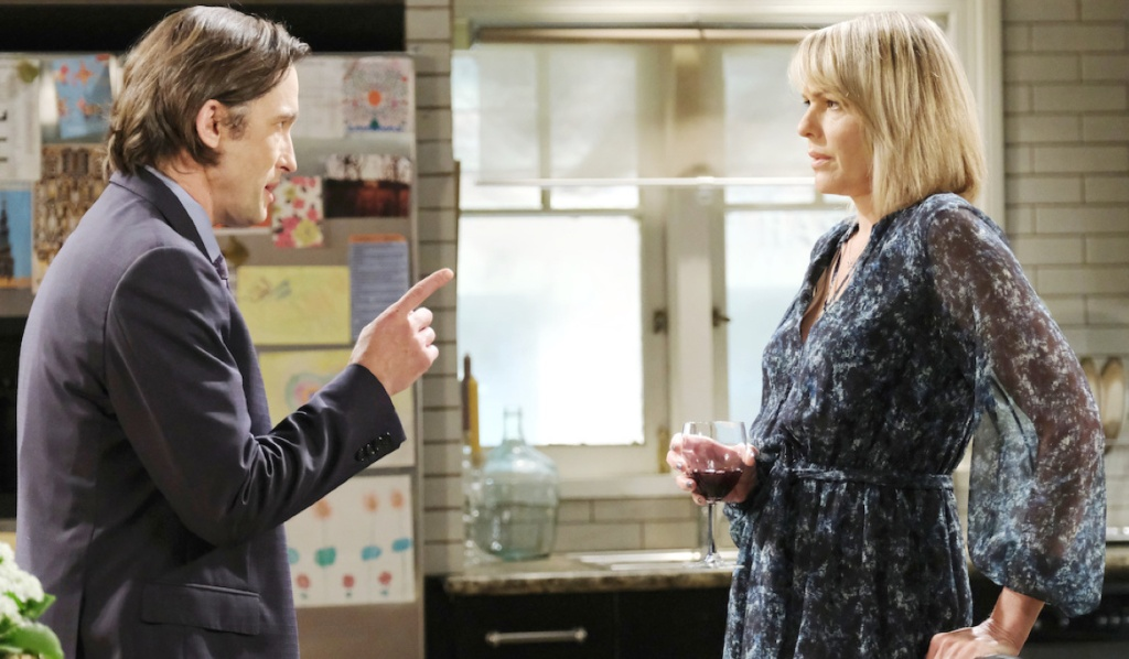 Philip makes a point to Nicole on Days of Our Lives