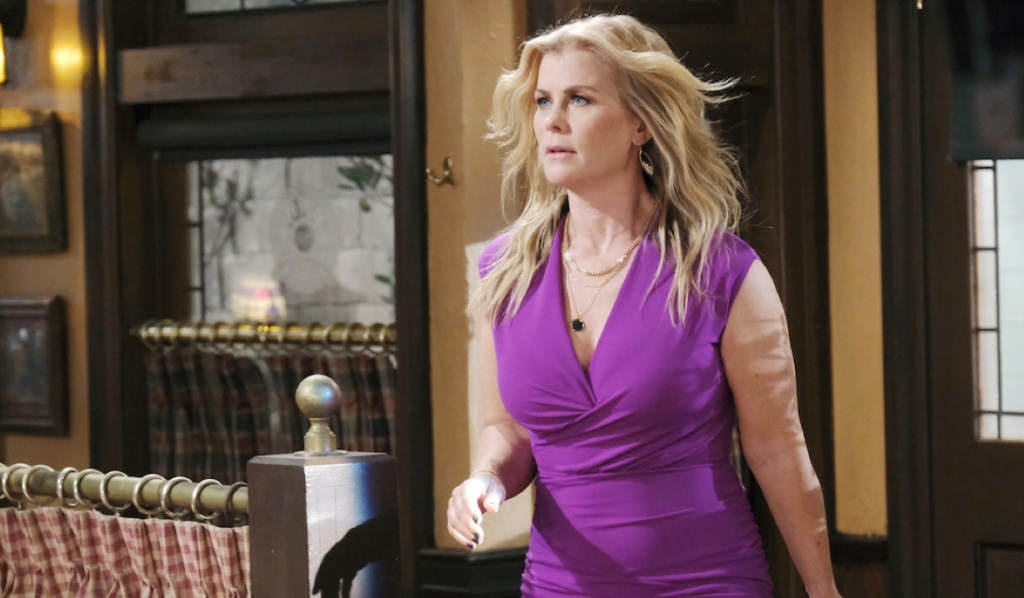 Sami blows into Brady's Pub on Days of Our Lives