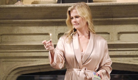 Sami lights a match on Days of Our Lives