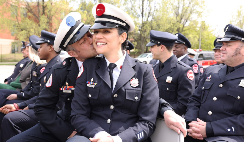 Severide and Stella on Chicago Fire