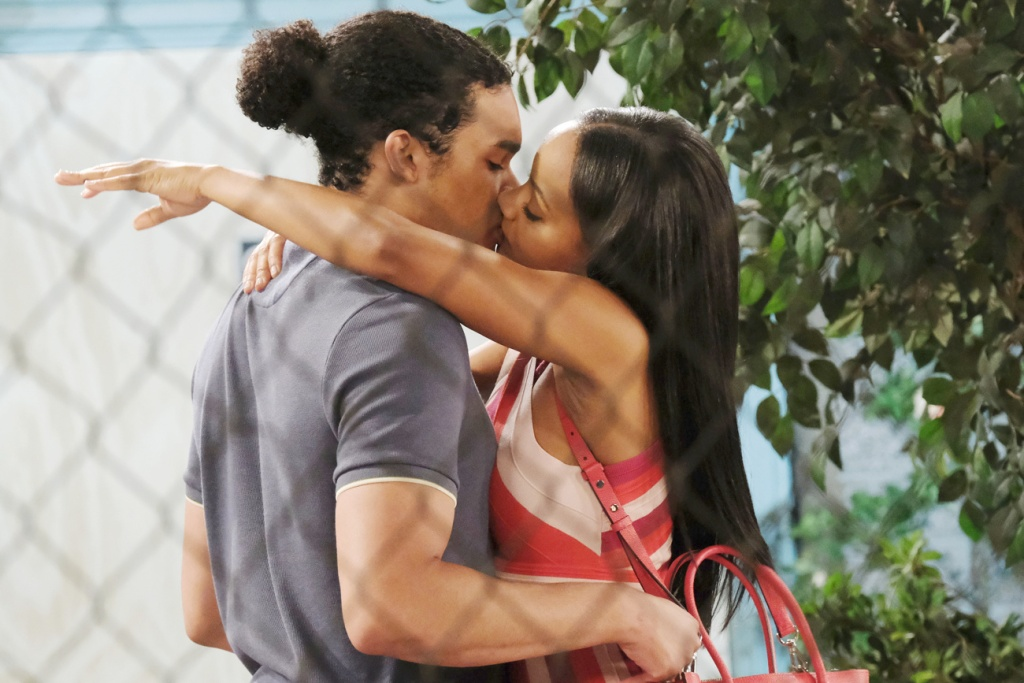 Chanel and Theo kiss on Days of Our Lives