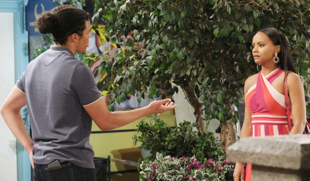 Theo makes a point to Chanel on Days of Our Lives