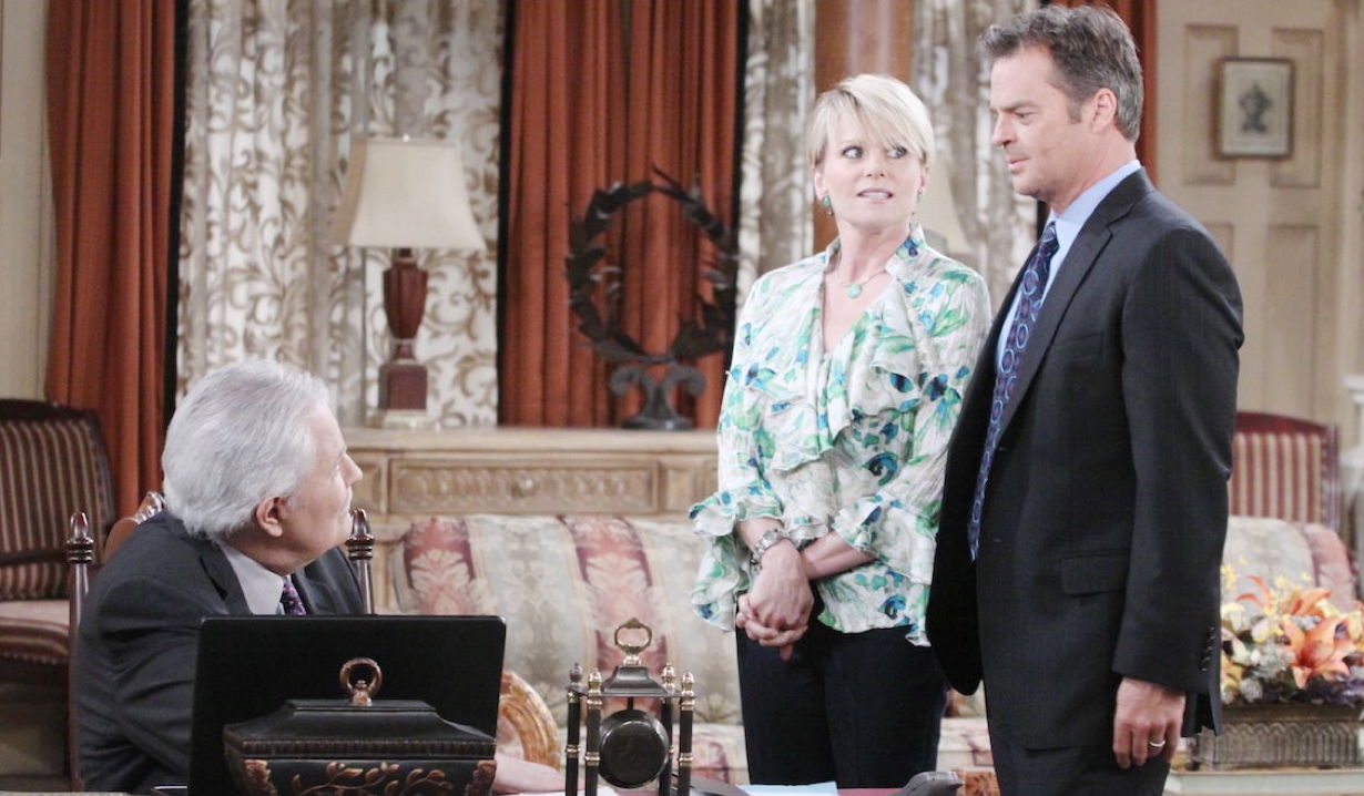 Victor, Adrianne and Justin on Days of Our Lives