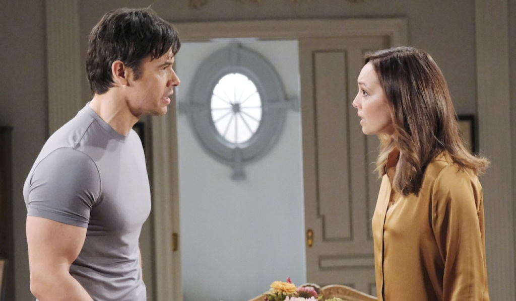 Xander and Gwen panic on Days of Our Lives