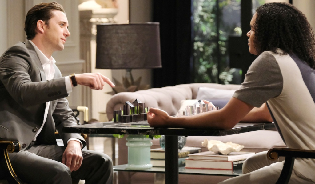 Chad and Theo play chess on Days of Our Lives