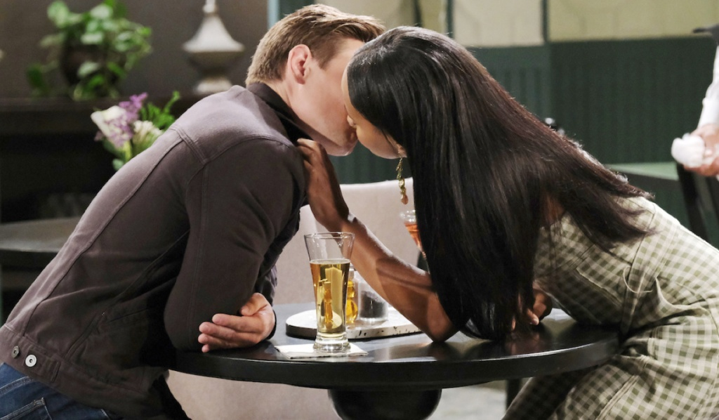 Johnny and Chanel kiss on Days of Our Lives