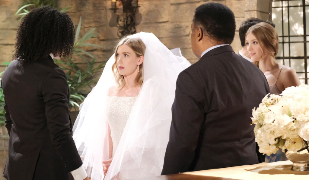 Claire surprises Theo at the altar on Days of Our Lives