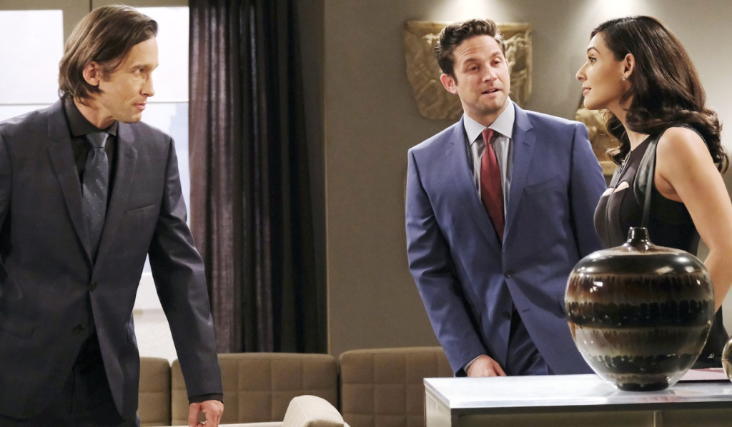 Philip, Jake and Gabi at Titan on Days of Our Lives