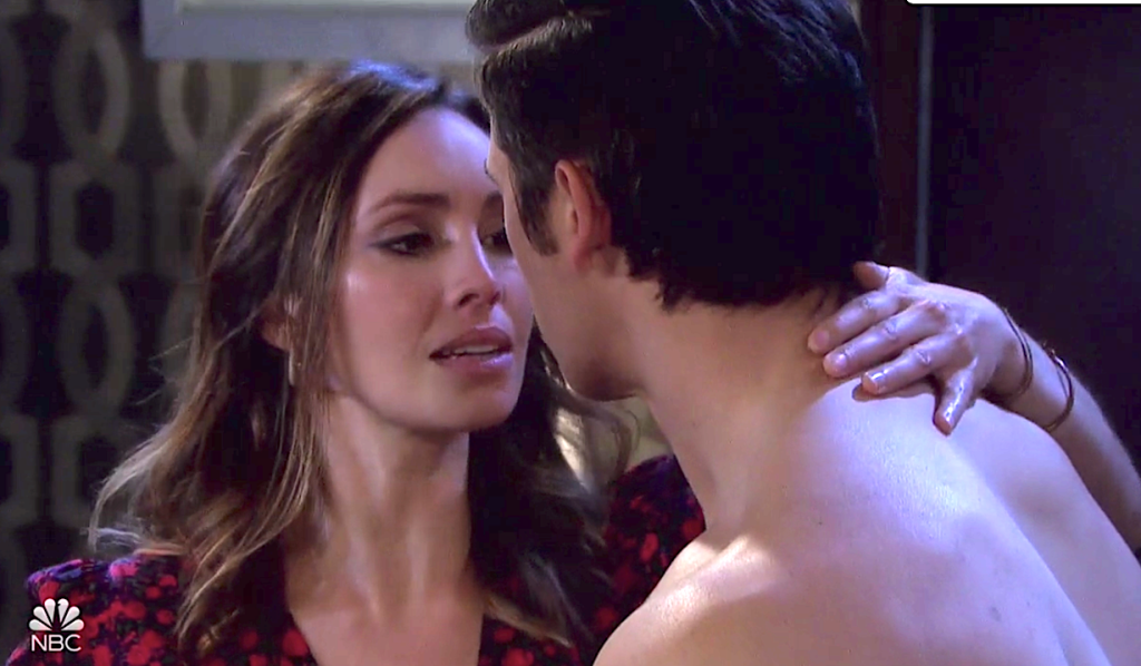 Gwen finds a seductive way to thank Xander on Days of Our Lives