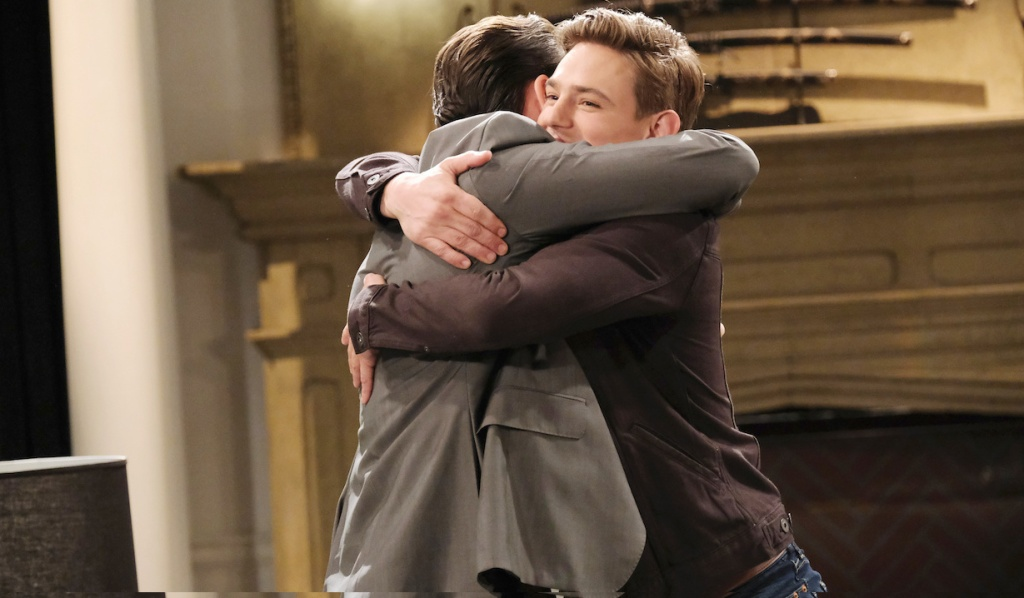 Johnny and Chad embrace on Days of Our Lives
