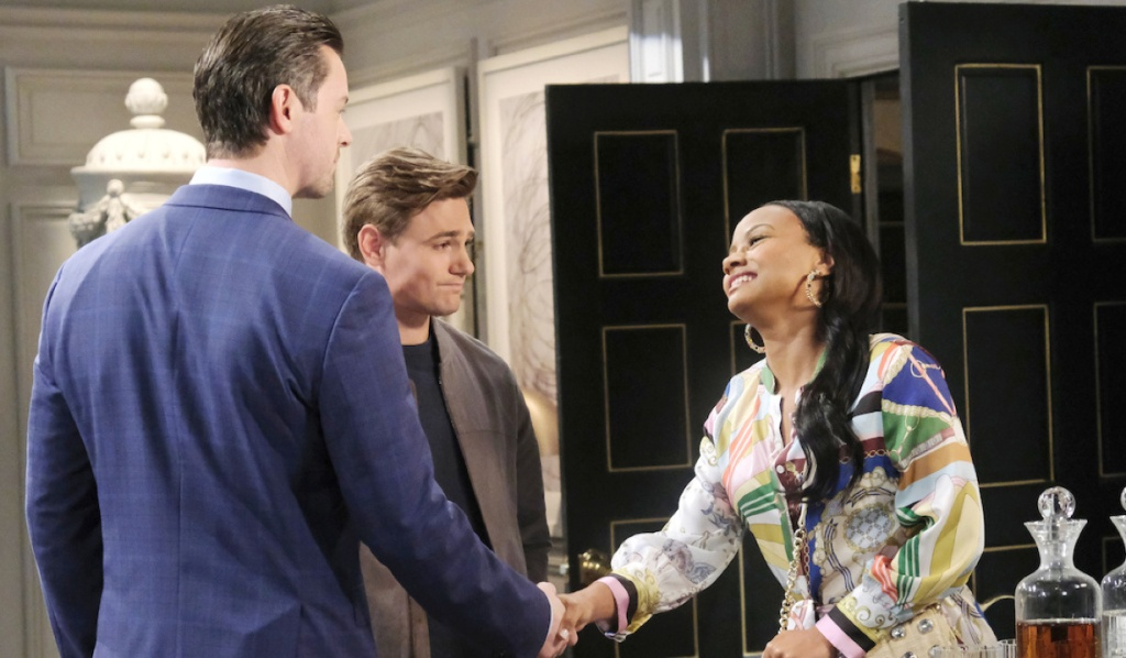 Johnny introduces Chanel to EJ on Days of Our Lives