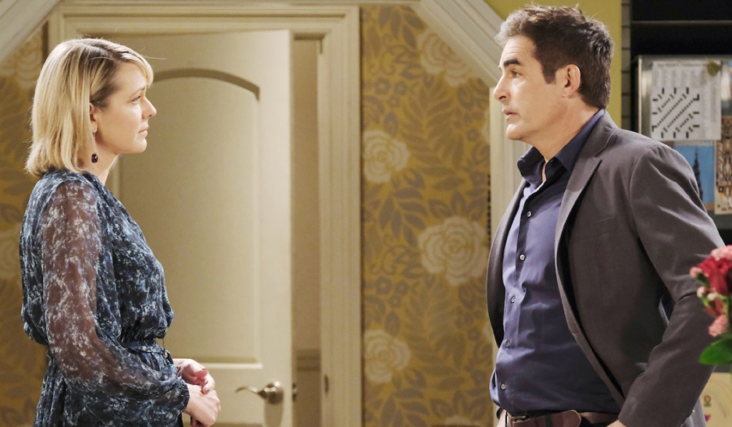 Nicole looks emotional while talking to Rafe on Days of Our Lives