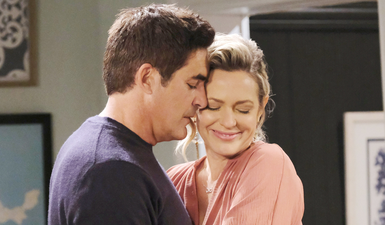 Rafe and Nicole in a close moment on Days of Our Lives