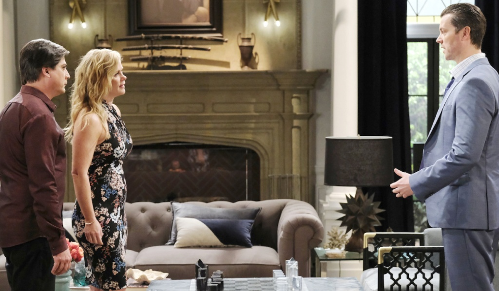 Sami and Lucas face EJ on Days of Our Lives