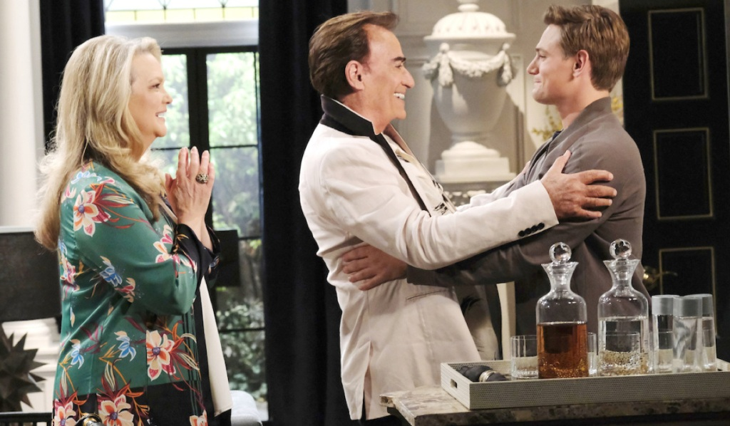 Tony and Anna greet Johnny on Days of Our Lives