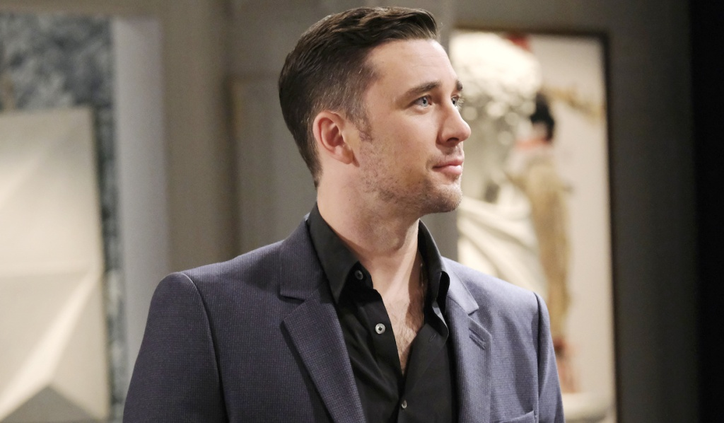 Billy Flynn as Chad DiMera at the mansion on Days of Our Lives