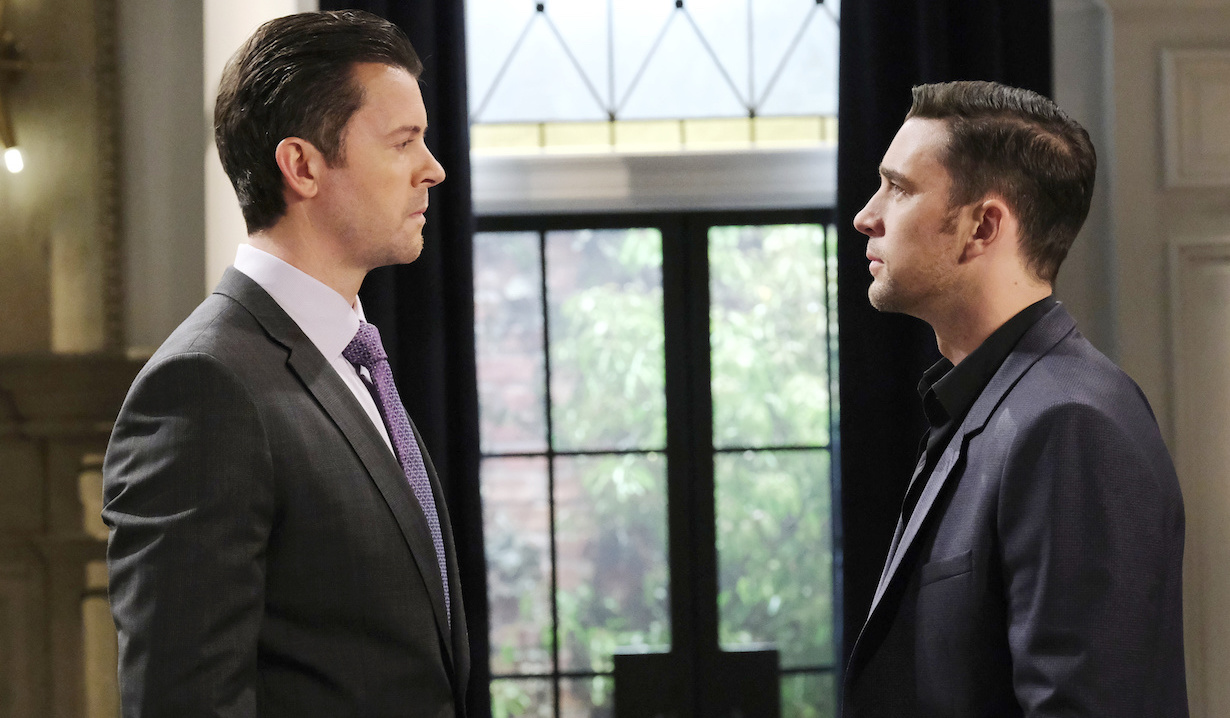 EJ and Chad face off at the DiMera mansion on Days of Our Lives