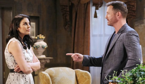 Chloe and Brady at the Kiriakis mansion on Days of Our Lives