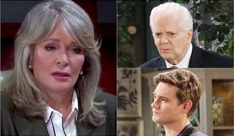 Photo collage of Marlena, Doug and Johnny on Days of Our Lives