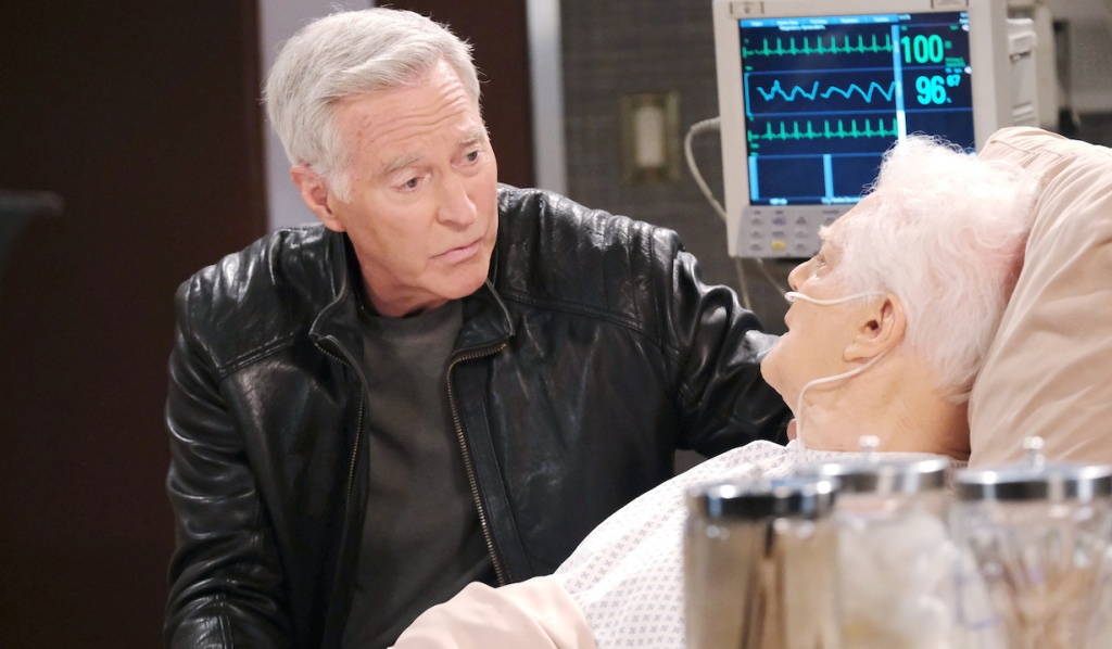 John visits Doug in the hospital on Days of Our Lives