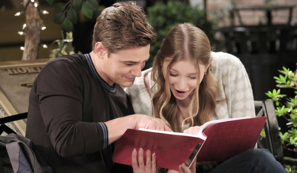 Johnny and Allie are shocked to read Will's script in Horton Square on Days of Our Lives