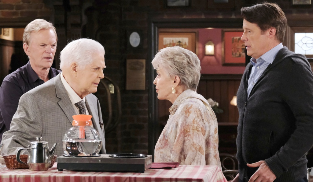 Roman, Doug, Julie and Jack at Brady's Pub on Days of Our Lives