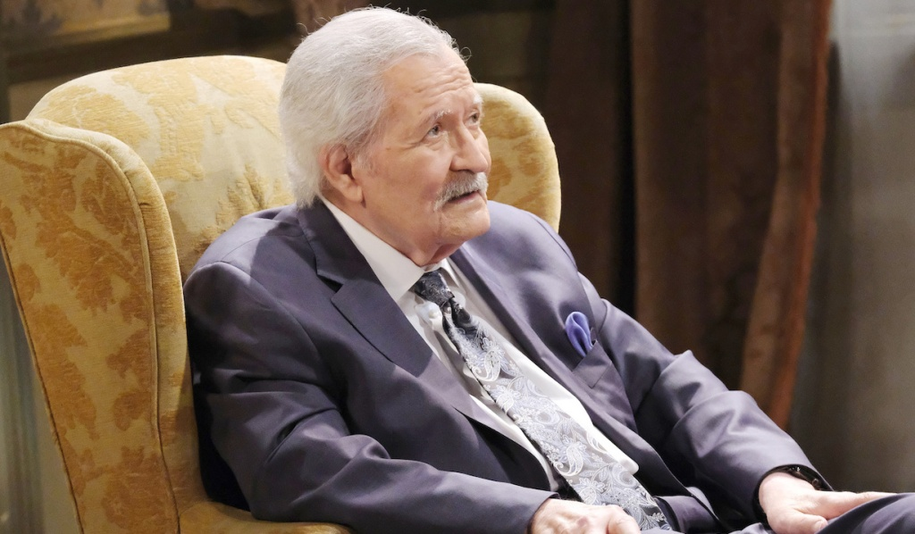 Victor sits in his chair in the Kiriakis living room on Days of Our Lives